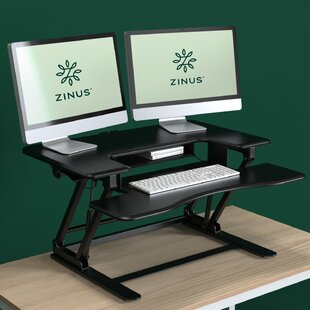 Symple Stuff Tamara Double Standing Desk Converter