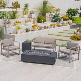 Maud Outdoor 5 Piece Sofa Seating Group with Cushions