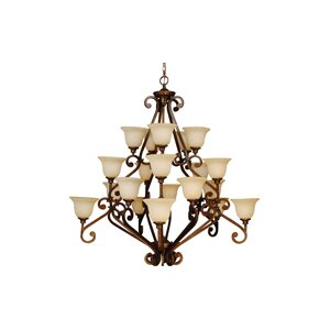 Lucia 20-Light Shaded Chandelier