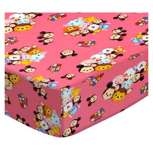 Best Reviews Tsum Tsum Pink Pack and Play Crib Sheet BySheetworld