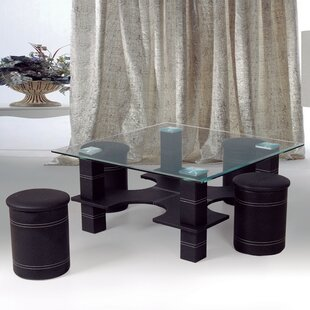 Best Quality Furniture Coffee Table with 4 Nested Stools
