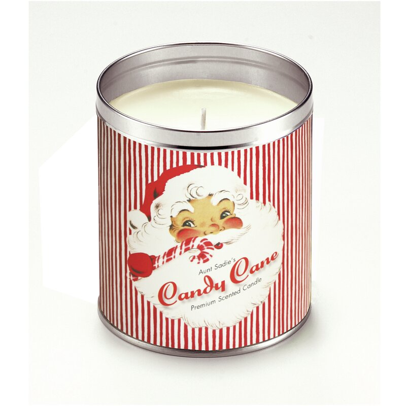Aunt Candy Cane Santa Peppermint Scented Jar Candle Wayfair