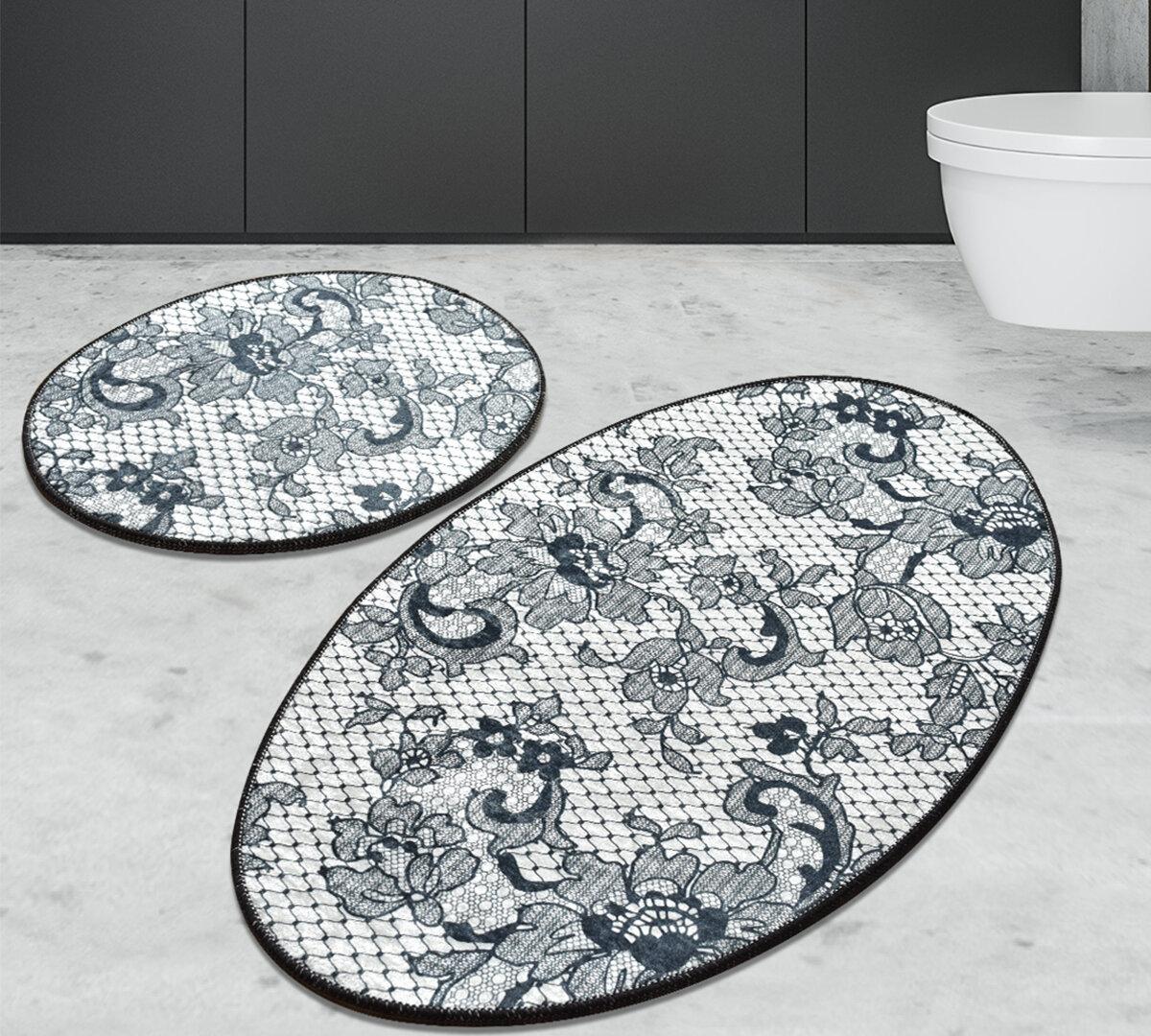 Canora Grey Mcaleer Lace 2 Piece Bath Rug Set Wayfair
