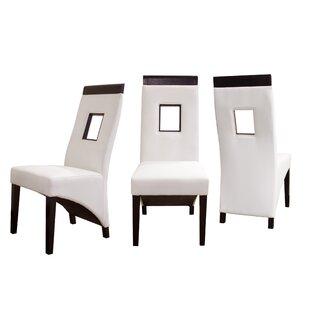 Vida Genuine Leather Upholstered Dining C..