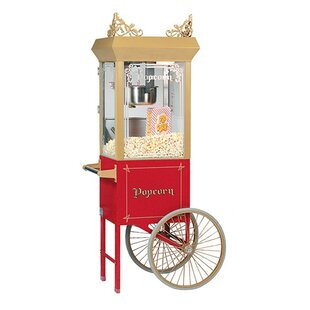 Bass 6 Oz. Antique Popcorn Machine w/ Cart