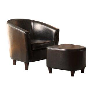 Charlton Home Calville Barrel Chair and Ottoman