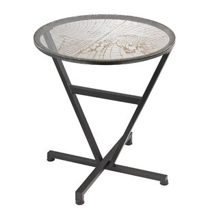 Abigail World Map End Table by Ivy Bronx