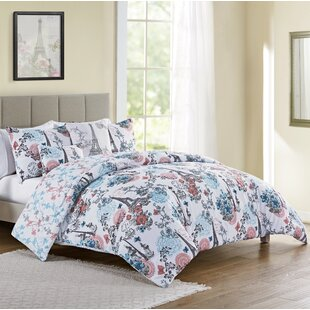 Ophelia & Co. Chesney Eiffel 5 Piece Reversible Comforter Set