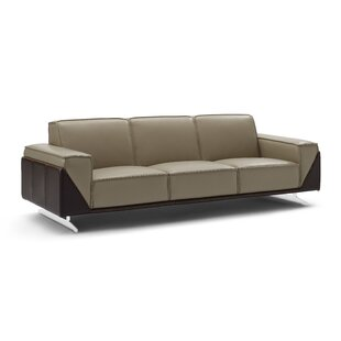 Bonneauville Leather Sofa by Orren Ellis Great price