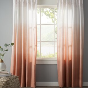 Green Orange Sheer Curtains