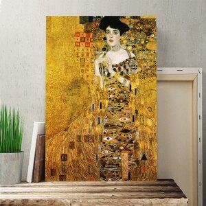 'Portrait of Adele Bloch-Bauer 2' by Gustav Klimt Painting Print on Canvas