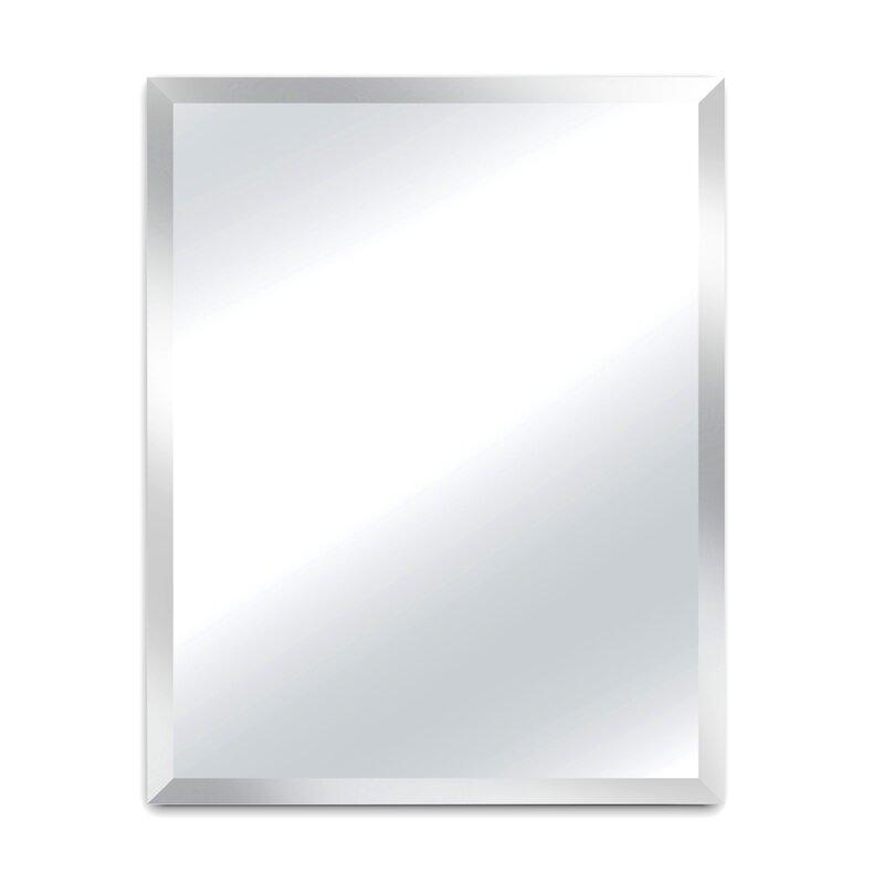 Alpine Art And Mirror Madison Beveled Frameless Wall Mirror Wayfair