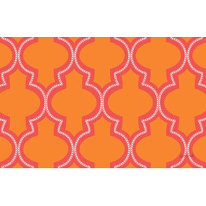 Ogee Orange Dots Area Rug
