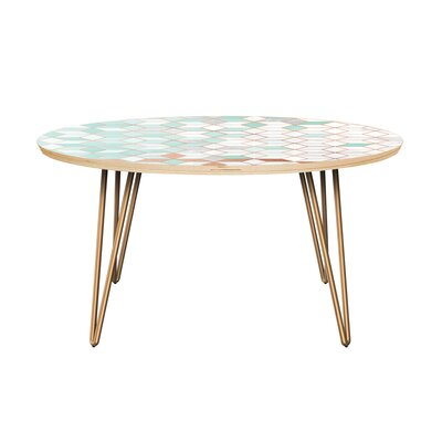 Bungalow Rose Graddy Coffee Table  Table Top Color: Natural, Table Base Color: Brass