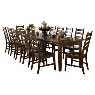 Birchley 13 Piece Extendable Solid Wood Dining Set World Menagerie