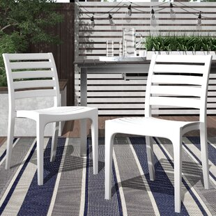 Melissus Stacking Patio Dining Chair (Set of 2)