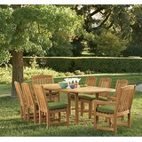 Dunshee Luxurious 9 Piece Teak Dining Set