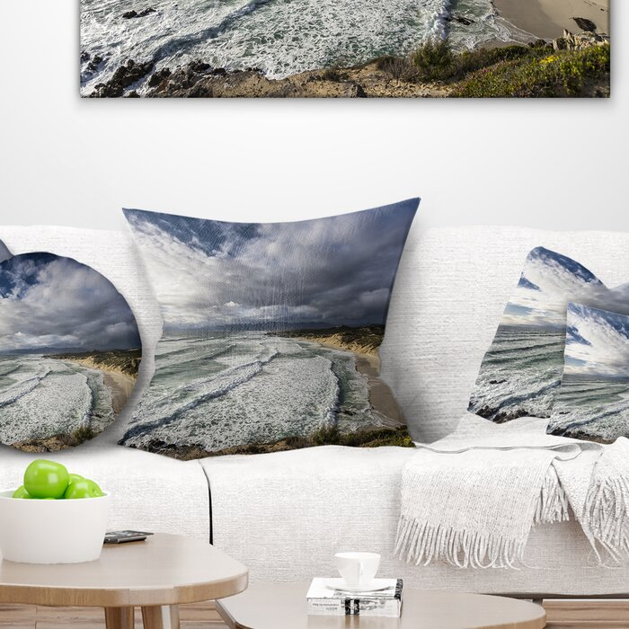 Surprising Seashore Stunning South Africa Sea Coast Throw Pillow Onthecornerstone Fun Painted Chair Ideas Images Onthecornerstoneorg