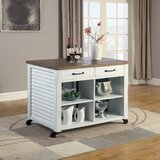 Cambridgeshire Kitchen Cart Solid/Manufactured Wood by Gracie Oaks