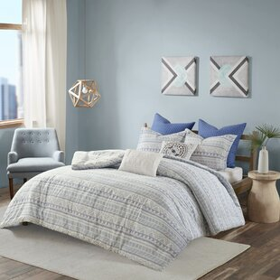 Burke 100% Cotton 7 Piece Reversible Duvet Cover Set