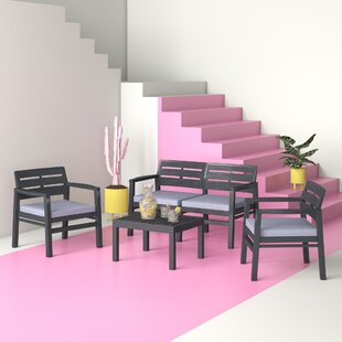 Anvi 4 Seater Sofa Set By Hashtag Home