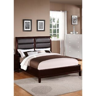 Latitude Run Stinecipher Eccentric Wooden Upholstered Panel Bed