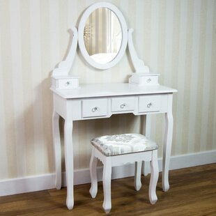 Beecroft Vida Nishano Dressing Table Set With Mirror By Rosalind Wheeler