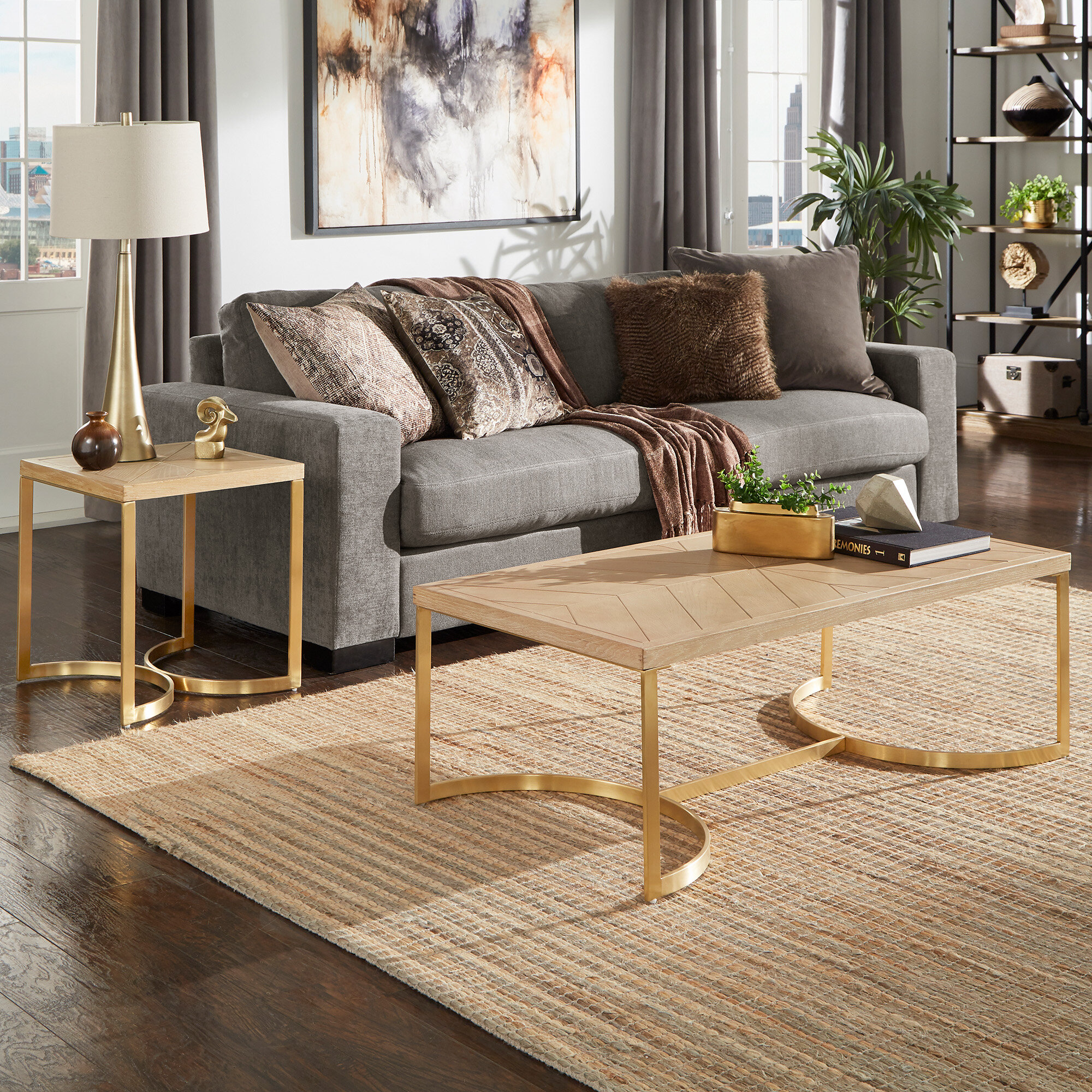 Everly Quinn Hunsinger 2 Piece Coffee Table Set Wayfair