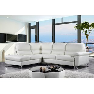 Orren Ellis Richeson Leather Sectional