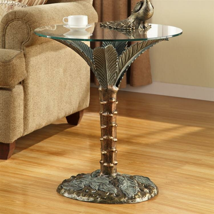 Palm Tree End Table By SPI Home