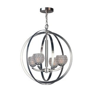 Heavner 4-Light Globe Chandelier