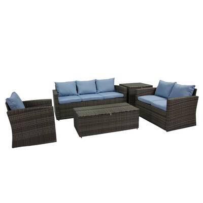 Arlington 5 Piece Rattan Sofa Seating Group With Cushions