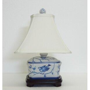 Porcelain table lamps youll love wayfair hiller secret garden bird design 17 table lamp aloadofball Image collections