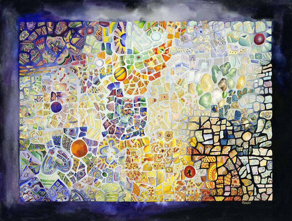 Bay Isle Home \'Costa Rican Mosaic\' Graphic Art Print | Wayfair
