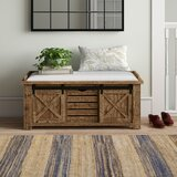 Pleasant Farmhouse Rustic Storage Benches Birch Lane Gmtry Best Dining Table And Chair Ideas Images Gmtryco