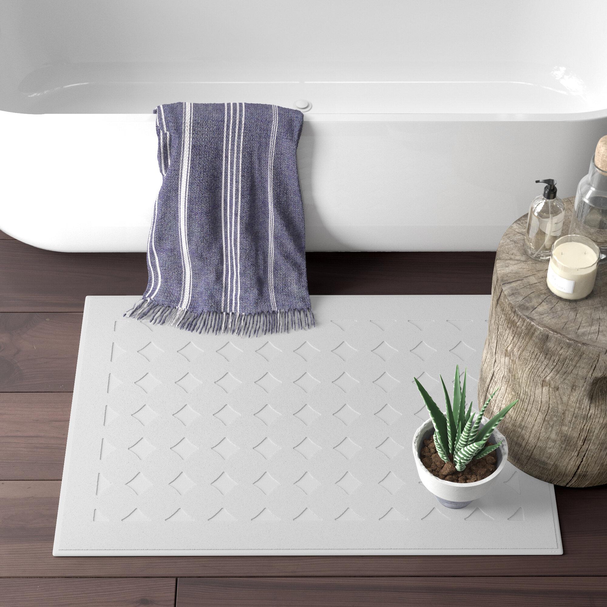Latitude Run Toscano 100 Cotton Polka Dots Bath Rug Reviews Wayfair