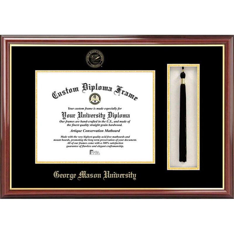 Diploma Frame Deals George Mason University Petite Tassel Picture Frame Wayfair