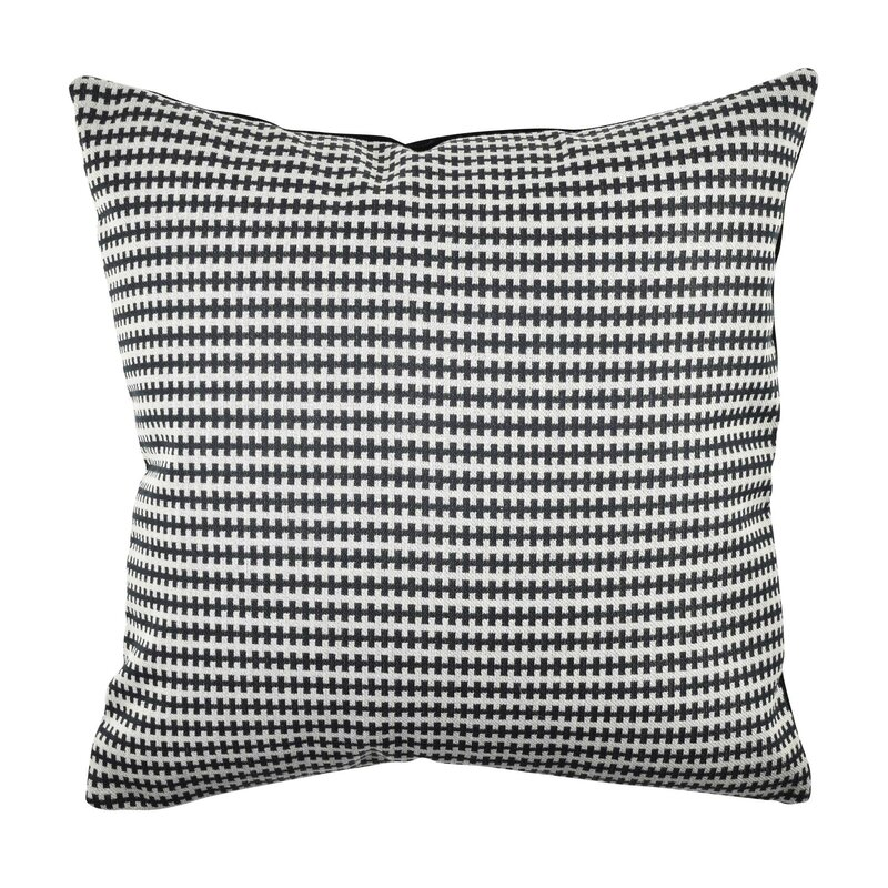 Wrought Studio Alayna Houndstooth Stripes Woven Throw Pillow Wayfair