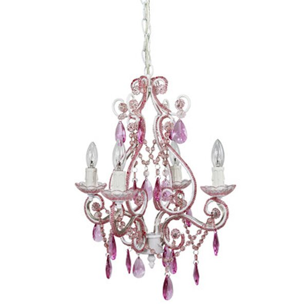 Kids Chandeliers Youll Love Wayfair - Chandelier crystals pink