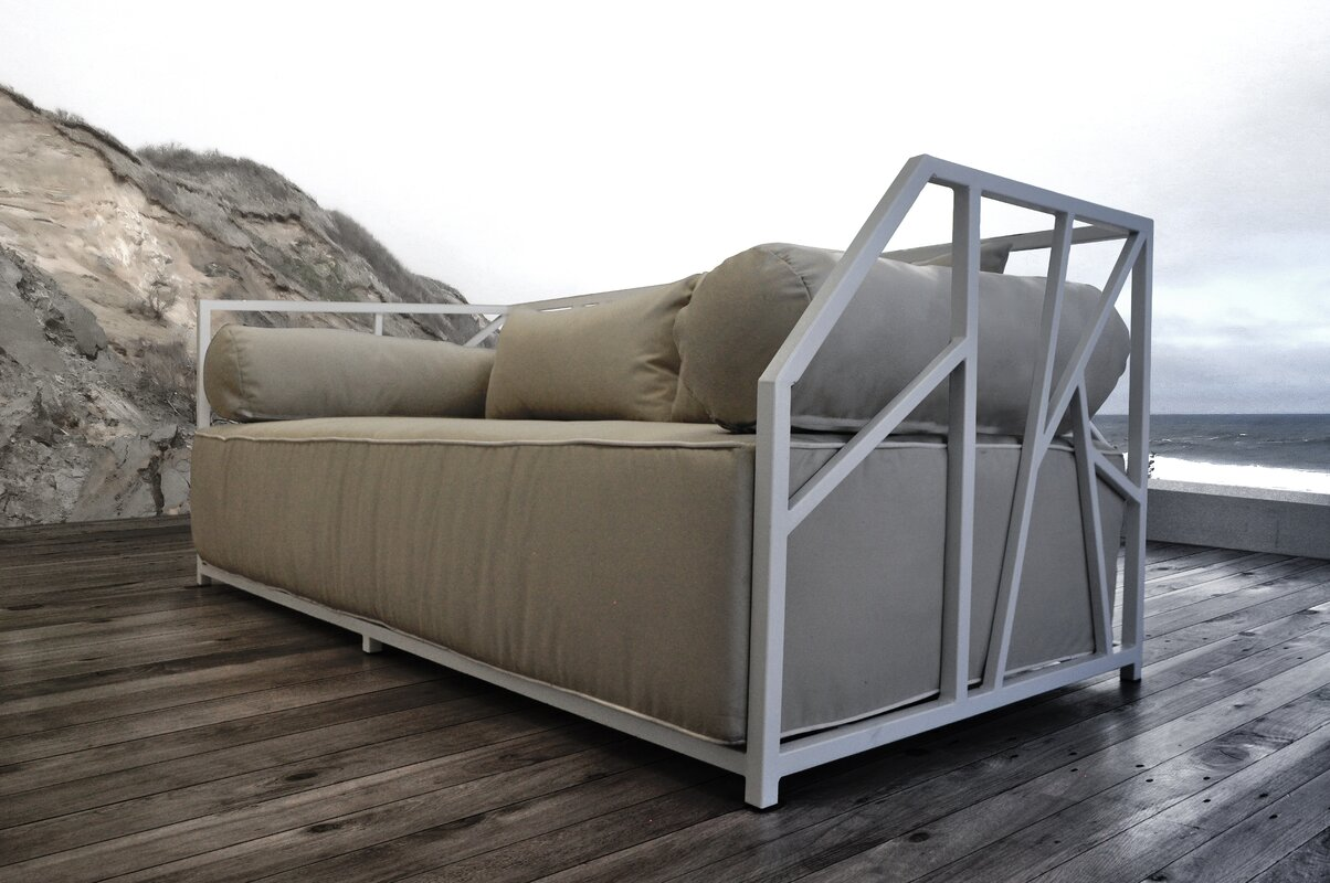 Brayden Studio Snydertown Deep Seating Patio Daybed with Cushions