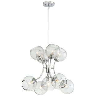 Brayden Studio Myrine 9-Light Shaded Chandelier