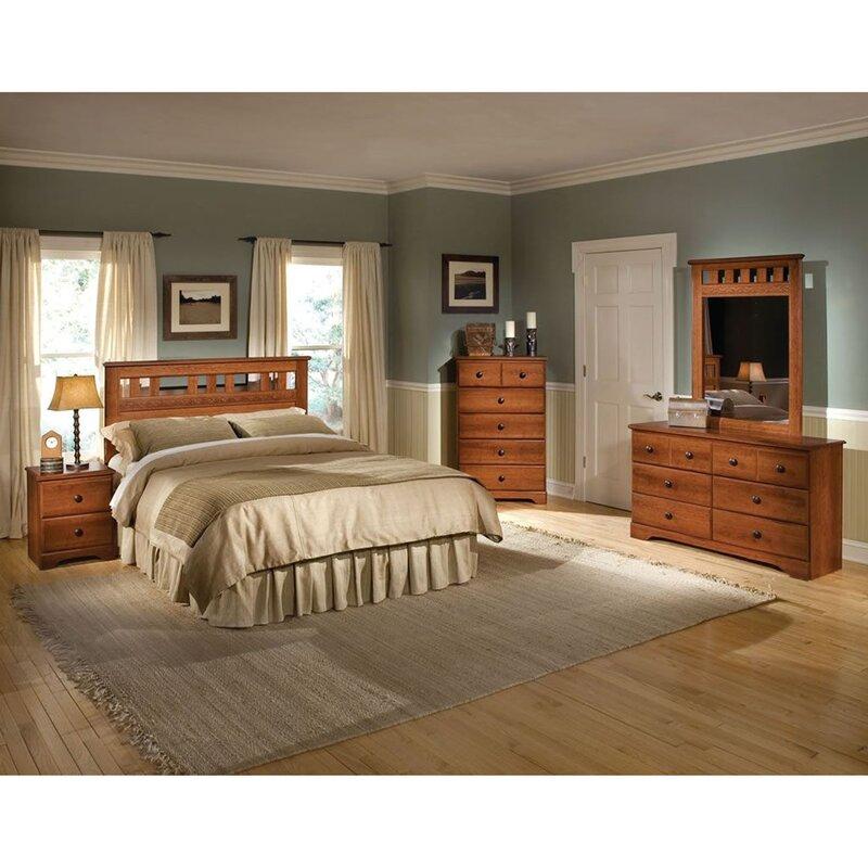 Alcott Hill Suffield Queen Standard 5 Piece Bedroom Set & Reviews ...