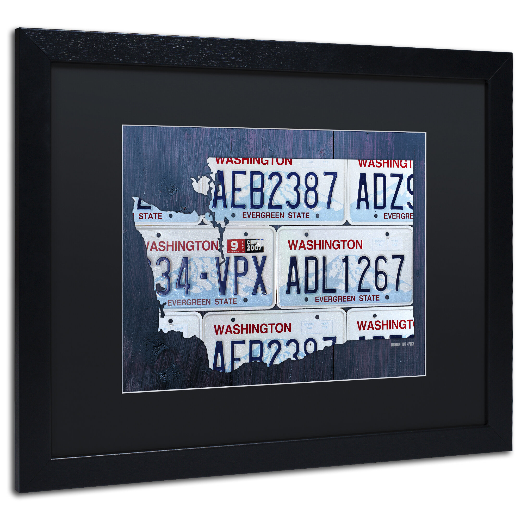 Latitude Run Washington License Plate Map By Design Turnpike Framed Graphic Art Wayfair