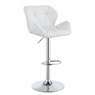 Wortham Adjustable Height Swivel Bar Stool (Set of 2) by Orren Ellis