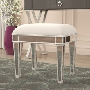 Low priced Orpha Vanity Stool By Rosdorf Park
