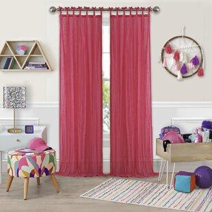 Joss & Main Essentials Solid Sheer Tab Top Single Curtain Panel