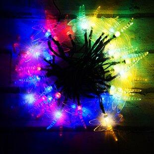 50 Multicolour LED Dragonfly Solar Fairy Lights By OE Lights