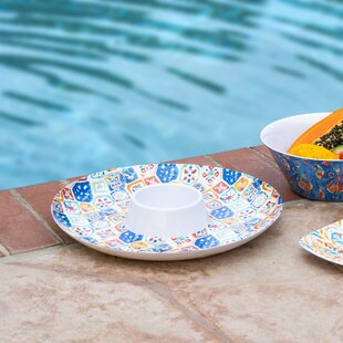 Cao Brights Melamine Chip and Dip Platter