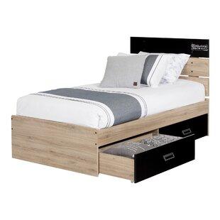 South Shore Induzy Industrial Twin Platform Configurable Bedroom Set