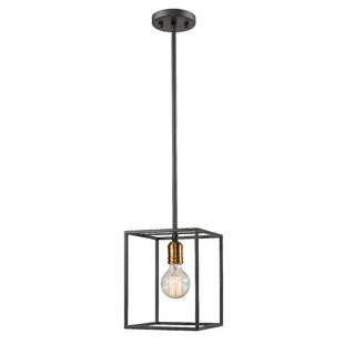 Crepeau 1-Light Square/Rectangle Pendant by Williston Forge